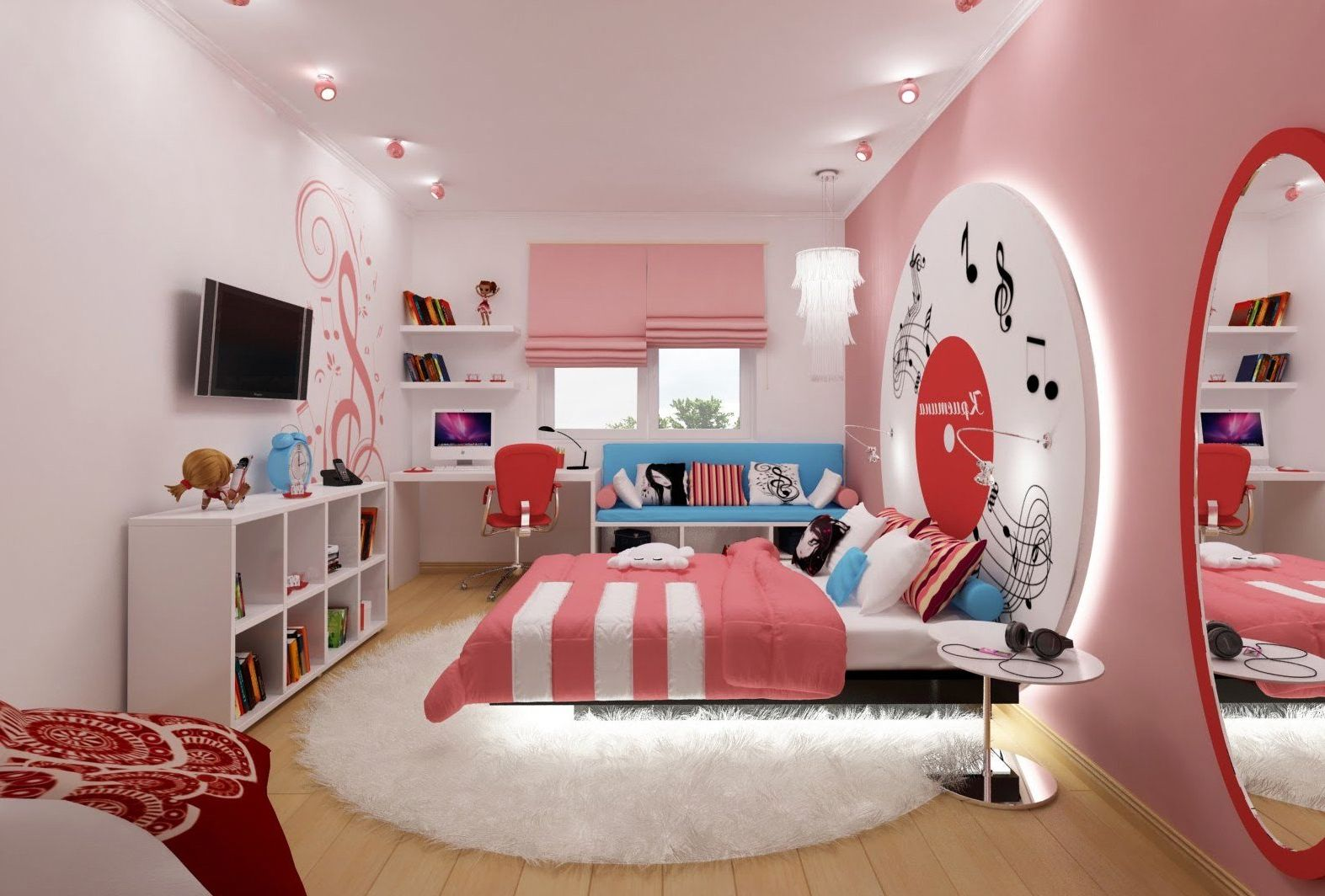 Дизайн комнаты для девочки в квартире